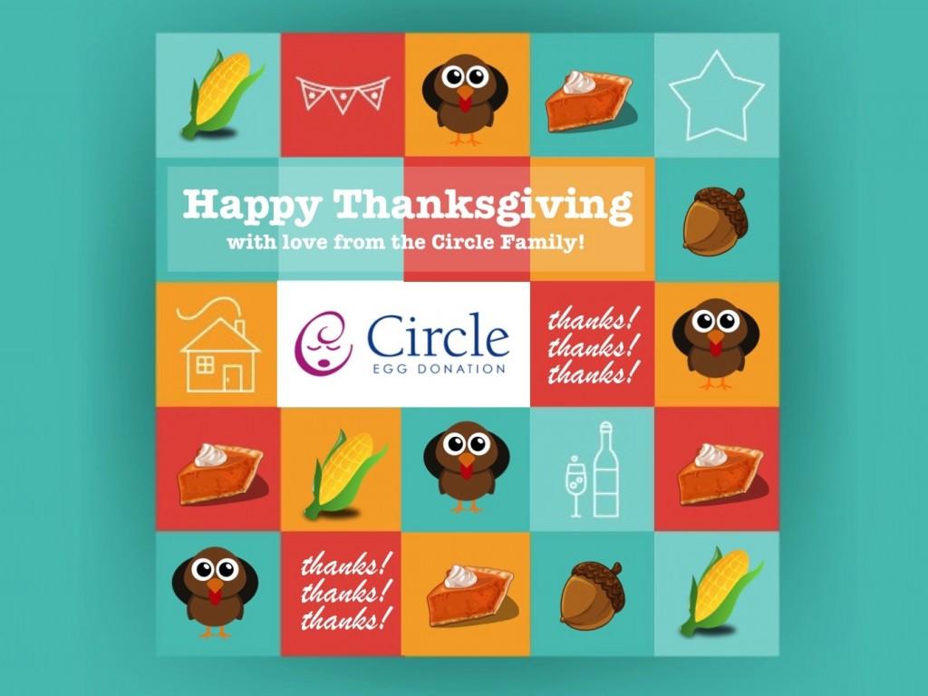 circle egg donation thanksgiving icon