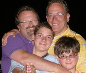 John, Cliff and their children
